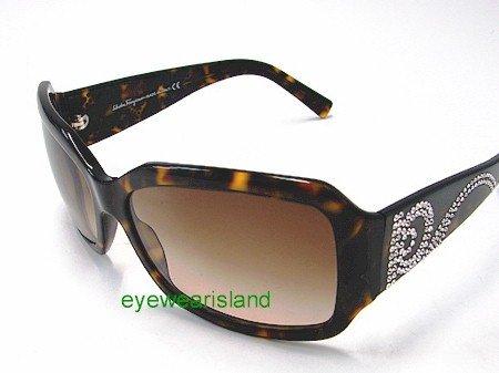 6ac928bbb9f New Salvatore Ferragamo 2106-B 2106B 102 13 Swarovski Crystals Tortoise  Frame Sunglasses Gradient Brown Lens Size  61-16-130  Amazon.co.uk  Clothing