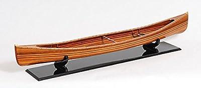 "Handcrafted Cedar Strip Canoe Wooden Model 44"" Boat No Ribs"