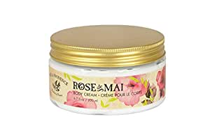 Pre de Provence Body Cream to Alleviate & Help Heal Parched Skin to Soothe and Hydrate with Shea Butter, Sesame Seed Oil, Vitamin E & Botanical Rose Blend Fragrance (6.79 fl oz) Mai