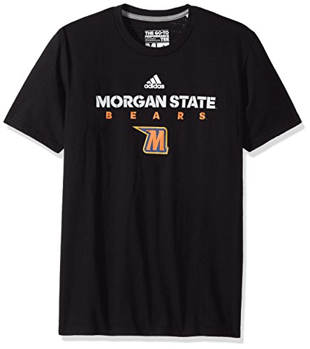 adidas NCAA Morgan State Bears Men's Sideline 2017 Go-to Performance Short Sleeve Tee, Large, Black Adidas Morgan State Bears