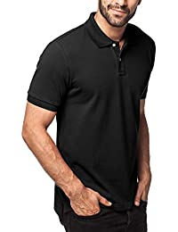 Men's Polo Shirt Short Sleeve Solid Color Classic Fit Premium Cotton Pique Knit Mesh M19