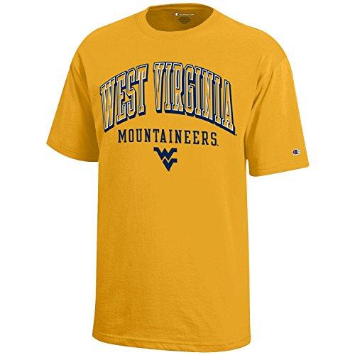 NCAA Champion Boy's Short Sleeve Jersey T-Shirt West Virginia Mountaineers Medium ()