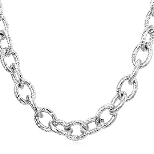 U7 Men's Heavy Chain Stainless Steel 13mm Circle Chain Chunky Necklace (18 Inch) - Mens Link Necklace