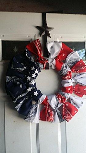 Red, White & Blue Bandana Wreath (Bandana Wreath)