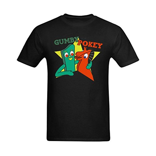 Definite Myself Men's Gumby And Pokey Friends Design T-Shirt - Cool T Shirts US Size (Gumby And Pokey Tshirt)