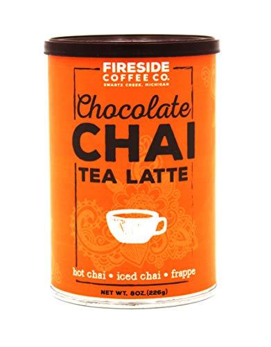 Fireside Coffee Company – Chocolate Chai Tea Latte – 8 oz – Powdered Spice – Hot Chai – Iced Chai – Latte