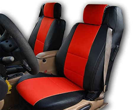 Chrysler Sebring Convertible Black//Beige Artificial leather Custom fit Front seat cover