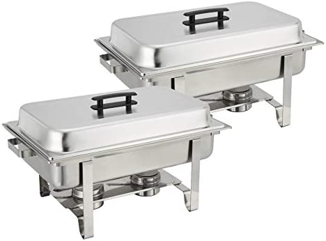 Tiger Chef 8 Quart Full Size Stainless Steel Chafer and Cool-Touch Plastic on top 2, Full Size chafing dishes
