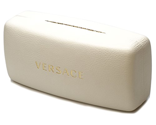 Versace White Leather Large Case,Case - White Sunglasses Versace