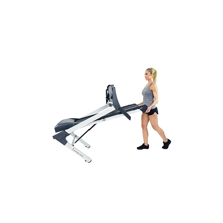 Sunny Health & Fitness SF T7515 Smart Treadmill with Auto Incline, Sound System, Bluetooth and Phone Function