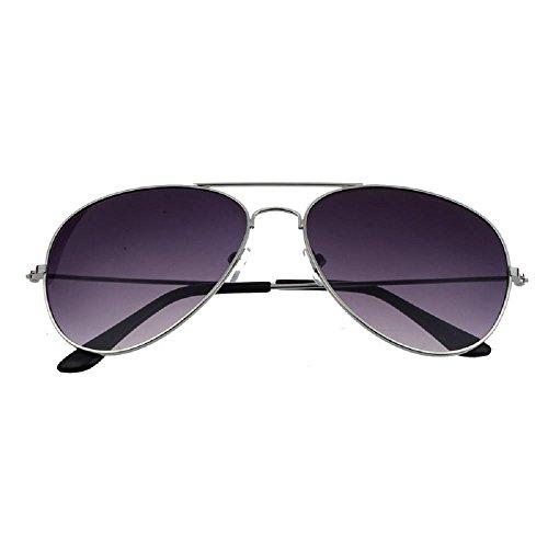 Lunettes De Soleil Covermason Armature en métal classique unisexe lunettes de soleil rétro femmes hommes (ruban + gris) rRzd7