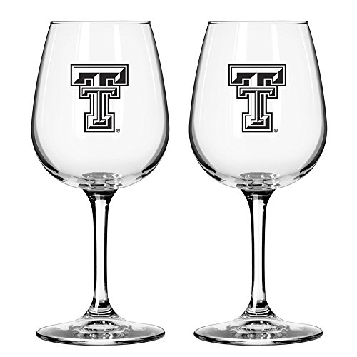 NCAA Texas Tech Red Raiders Game Day Wine Glass, 12-ounce, 2-Pack