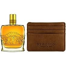Stetson Leather  2pc Set -  Original 2.25 oz Cologne Perfume + Card Holder Wallet