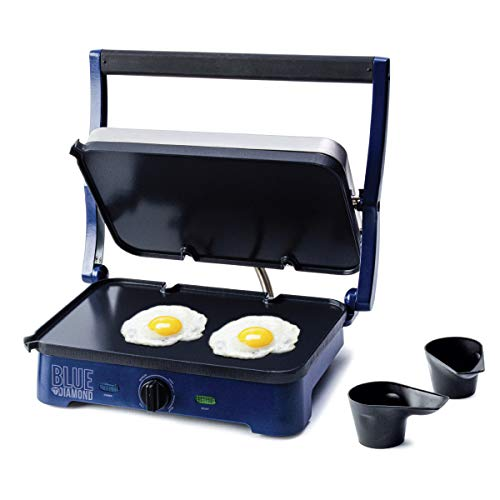 Blue Diamond Cookware CC002858-002 Sizzle Ceramic Nonstick Electric Contact Griddle One Size