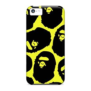 Shockproof Hard Phone Covers For Iphone 5c With Customized Realistic Bape Pattern ChristopherWalsh