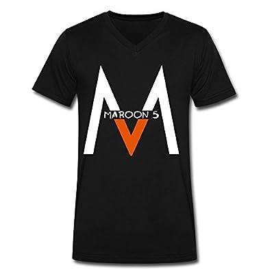 DeMai Men V-Neck 100% Cotton Maroon 5 Tshirts