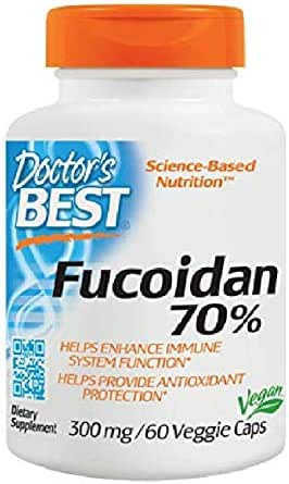 Doctor's Best Best Fucoidan 70%, Vegetable Capsules, 60-Count by Doctor's Best