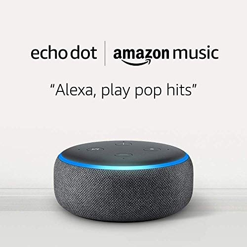 Echo Dot (3rd Gen) and 6 months of Amazon Music Unlimited FREE w/ auto-renewal - Charcoal