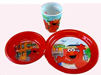 3 Piece Elmo Dinner Set - Elmo Dinnerware  sc 1 st  Amazon UK & 3 Piece Elmo Dinner Set - Elmo Dinnerware: Amazon.co.uk: Toys u0026 Games