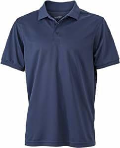 James & Nicholson Men's Jn576 Active Short Sleeve Polo Shirt Large Navy