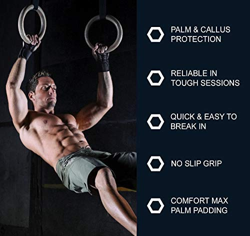 Suits Men /& Women Great for Pull Ups Weight Lifting Gloves with Built-in Wrist Wraps Full Palm Protection /& Extra Grip WODs /& Weightlifting Fitness Cross Training