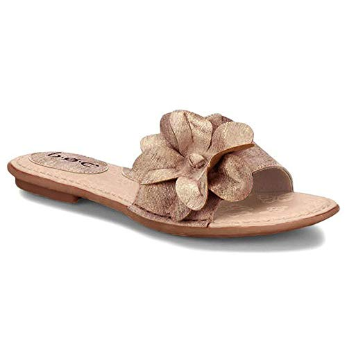 B.O.C. Womens Kirsi Slide Sandals with Flower (6, -