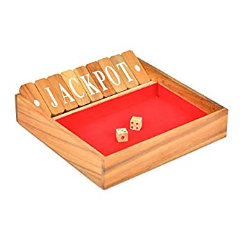 Brain Games Shut The Box Classic Wooden Family Board Games, Large 3