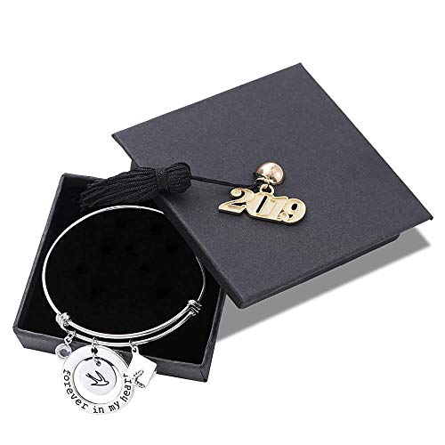 ifts for Her 2019 - Forever in My Heart Inspirational Expandable Bracelet Long Distance Going Away Gift Friendship 2019 Graduate Gifts for Best Friend Senior Student Classmate ()