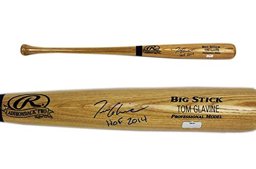 Tom Glavine Autographed Baseball Bat - Official