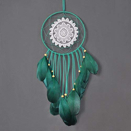 Ricdecor Dream Catcher Wall Hanging car Hanging Decoration Ornament Boho Wall Hanging Dream catcherdecor (Green)