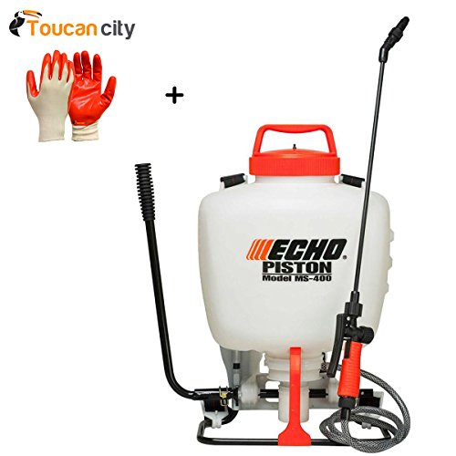 Toucan City Nitrile Dip Gloves(5-Pack) and ECHO 4 Gal. Piston-Pump Backpack Sprayer ()