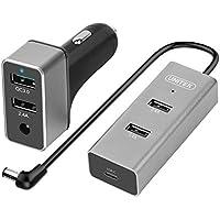 Unitek 3.0 Qualcomm Certified Quick Dual Car Charger + 3-Port USB Hub
