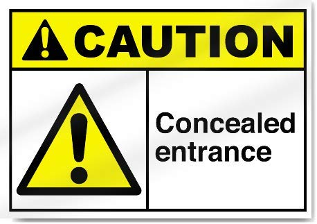 Yilooom Concealed Entrance Warning Sticker Vinyl Sign Label Alert Decal Sticker 7 X 10 Inch
