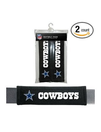 NFL Dallas Cowboys Seat Belt Pad (Pack of 2) (Mens Cowboys Dallas Accessories)