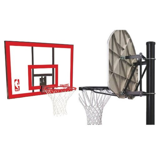 Spalding NBA Backboard/Rim Combo - 44'' Polycarbonate Backboard with Spalding Universal Mounting Bracket by Spalding
