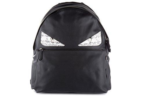 Fendi men's leather rucksack backpack travel stondato calfskin century occhi (Fendi Calf Leather)