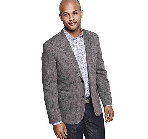 Johnston & Murphy Men's Dot Knit Blazer Gray XL US from Johnston & Murphy