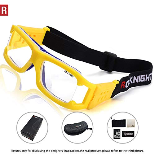 c2b76ab554d9 ROCKNIGHT Basketball Glasses Safety Sports Goggles Protective Eyewear for  Volleyball Football Soccer for Adults Kids …