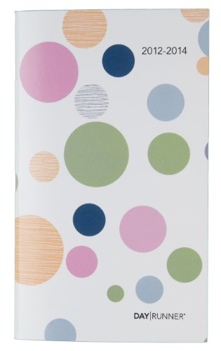 Day Runner Academic Two Year Pocket Planner, 3 5/8-Inch x 6 1/6-Inch, Bubbles, 2013-2014 (767-021A-A2)