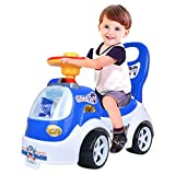 Sacow Baby Walker, Kids Balance Ride Bikes Bicycle No Foot Pedal Infant Four Wheels Scooter Children Walker Riding Toys (Blue)