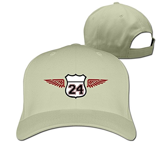 Mens Numeber 24 Ameica Wings Adjustable Fitted Caps Trucker - Fitted Cooperstown Home Cap
