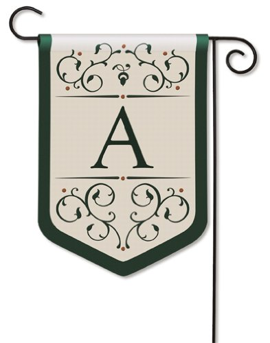 Grande Manor Monogram A Garden Flag by BreezeArt™
