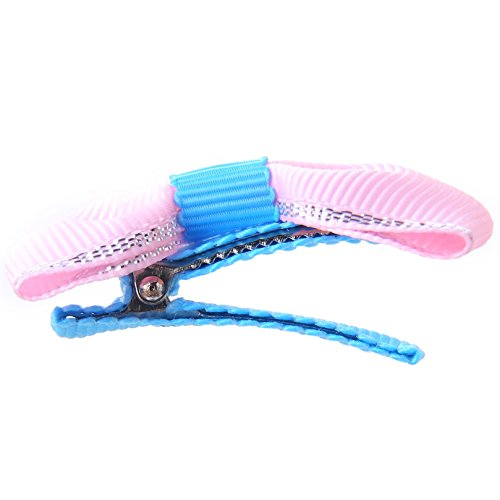 Belle Beau Baby Girls Hair Bows, Hair Clips, Ribbon Lined Alligator Hair Clips (Z-Dix-B) by Belle Beau (Image #6)