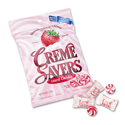 LifeSavers Strawberry Creme Savers Hard Candy, 6oz Pack