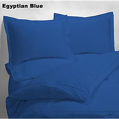 Luxury 600 Thread Counts 7pc Bed In A Bag Narrow Bunk Size Egyptian Blue Solid 100 Egyptian Cotton By PARADISEHOUSE