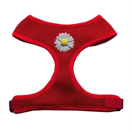 Mirage Pet Products 73-23 LGRD White Daisies Chipper Red Harness, Large ()