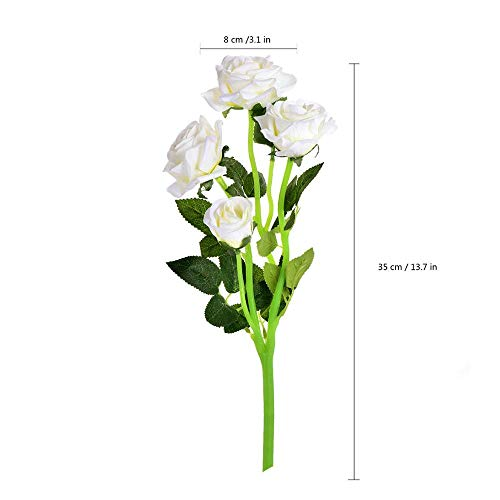 Artificial Dried Flowers - Artificial Rose Flowers Simulation Single Branch Silk Fake Flower Home Soft Dress Wedding Bridal - Piece Jewelry Lei Flower Velvet For Wedding Chiffon Orchid Car ()
