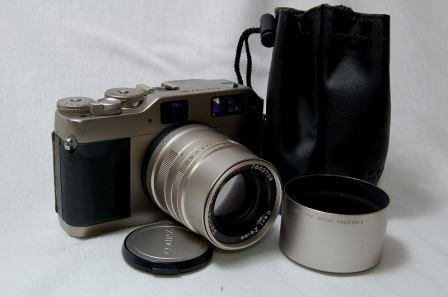 Carl Zeiss Contax G1 Camera Green Label with Contax 35mm Plannar and 90mm Sonnar Lenses