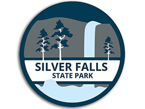American Vinyl Round Silver Falls State Park Sticker (Oregon Trail Hike)