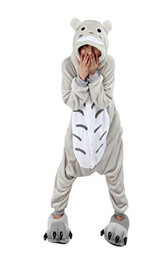 Cute Mad Hatter Costume For Girls (Molly Unisex Adult Kigurumi Homewear Pajamas Cosplay Costume Sleepwear Size XL Totoro)